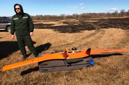 Беспилотник на охране лесов от пожаров