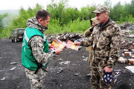 Хабаровской лесной службой проводятся мероприятия по противопожарной пропаганде