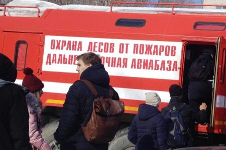 Лесные пожарные Хабаровска открывают свои двери студентам-лесоводам
